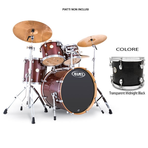 Mapex - Meridian Maple - MP5245MB Fusionease - Transparent Midnight Black