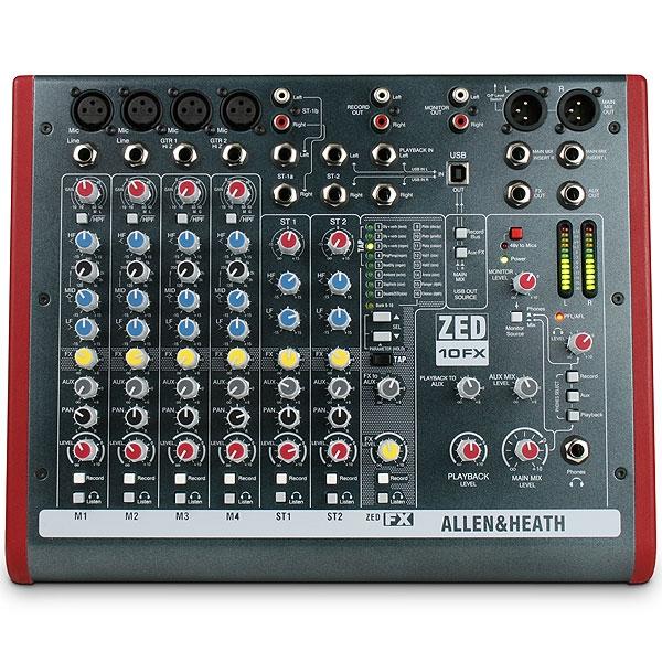 Allen & Heath - Zed - [ZED-10FX] Mixer 8 canali con effetti e USB