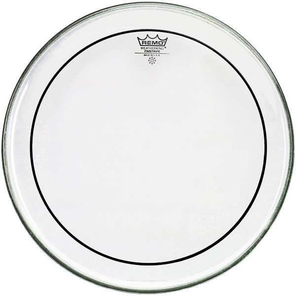 Remo - Pinstripe - [PS-0312-00] Pelle Rullante/Tom Clear 12""