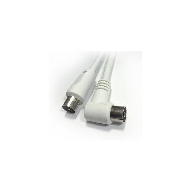 Alpha Elettronica - Cavo coassiale TV ø9,5mm maschio > ø9,5mm femmina 90° 1,5mt [87-116WB]