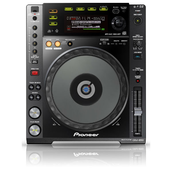 Pioneer - [CDJ-850-K] Deck digitale con manopola Full Scratch Jog Wheel Nero
