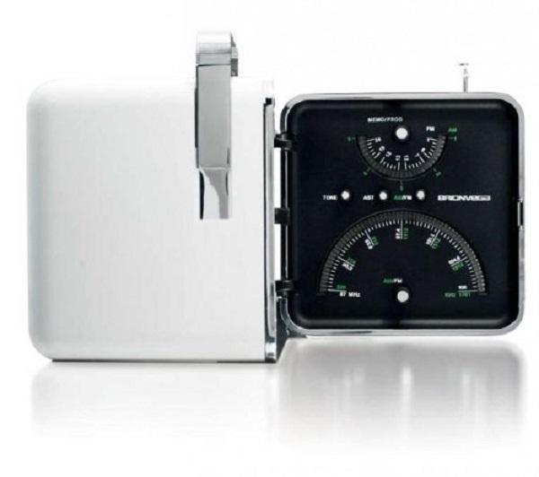Brionvega - TS-522 Bianco Neve - Radio Cubo AM FM