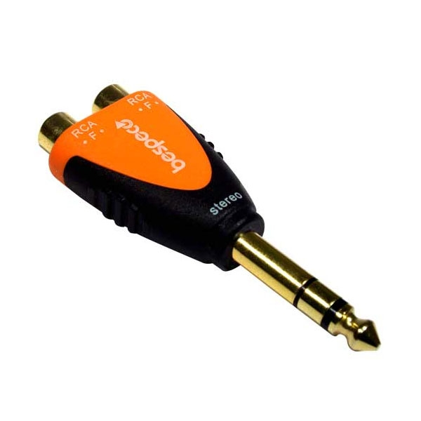Bespeco - Silos - Adattatore jack ø6,3mm stereo M > 2x RCA F [SLAD370]