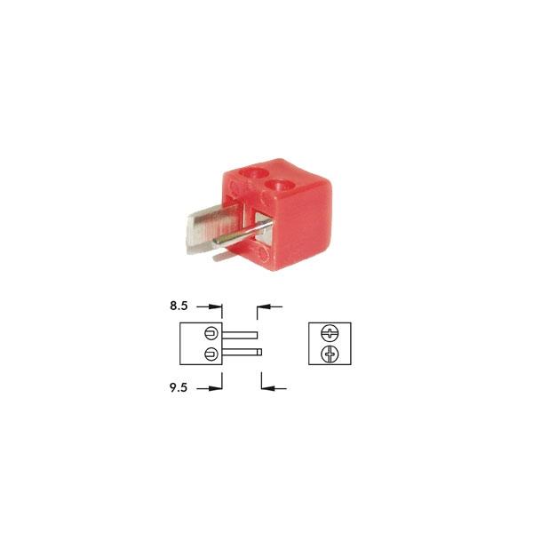 Alpha Elettronica - Spina punto e linea a 90° DIN 41529 [1-3R]