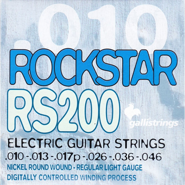 Gallistrings - Rockstar Electric - [RS200] Muta corde chitarra elettrica regular light .010-.046