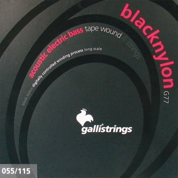 Gallistrings - Black Nylon - [G77] Muta 4 corde basso acustico .055-.115