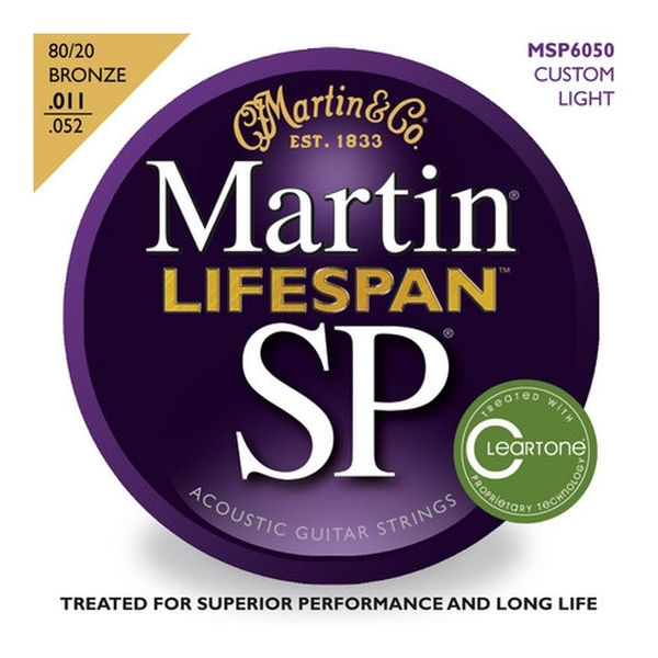 Martin - [MSP6050] LIFESPAN Custom Light - Muta corde x chit. acustica