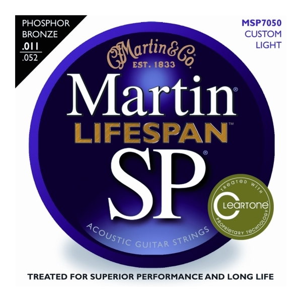 Martin - [MSP7050] LIFESPAN Custom Light - Muta corde x chit. acustica