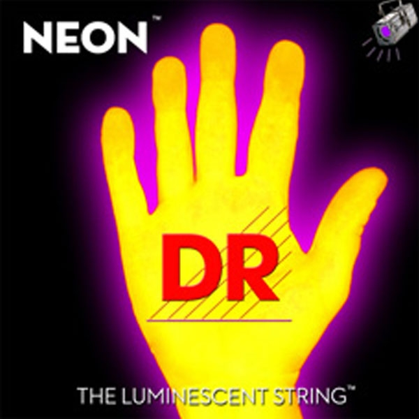 Dr Strings - Neon - [NYB-45] Corde luminescenti per basso Giallo .045-.105