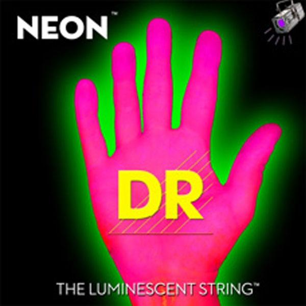 Dr Strings - Neon - [NPB-45] Corde luminescenti per basso Rosa .045-.105