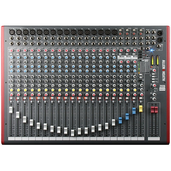 Allen & Heath - Zed - [ZED-22FX] Mixer 22 canali con effetti e USB