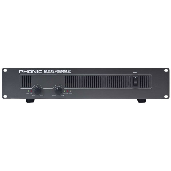 Phonic - [Max2500 Plus] amplificatore di potenza 2X750W