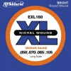 D'Addario - XL Nickel Round Wound - EXL160 muta Medium Long Scale .050-.105 Basso