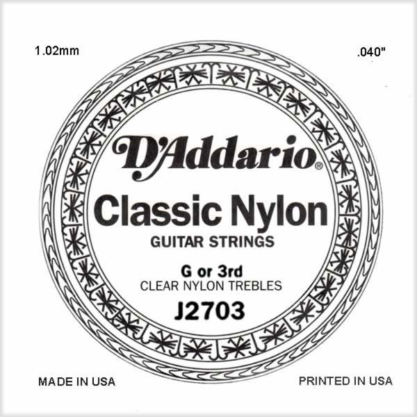 D'Addario - J2703 Single Student Nylon 040/J27 3rd Normal Tension