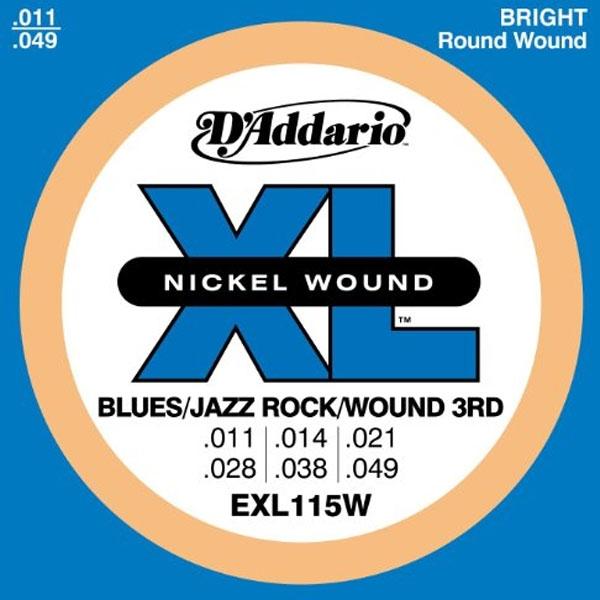 D'Addario - XL Nickel Round Wound - EXL115W Blues/Jazz Rock Wound 3rd 11-49