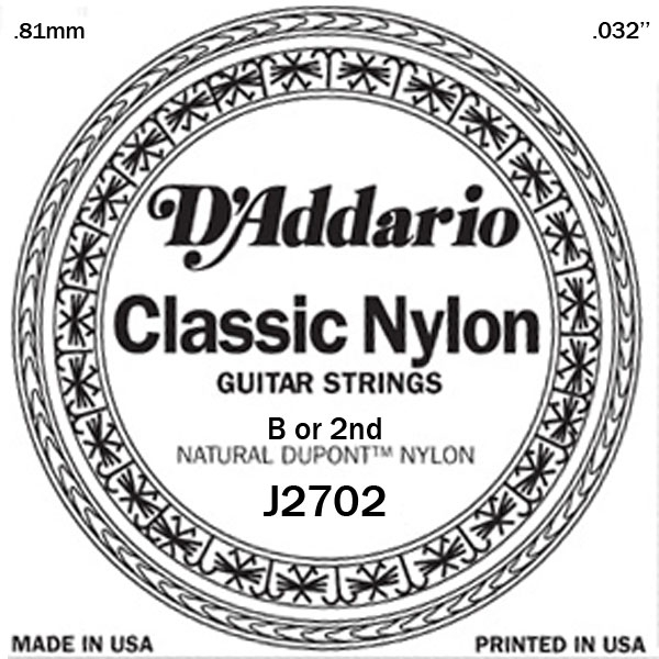 D'Addario - Classic Nylon - J2702 Student Nylon Normal Tension Single 032