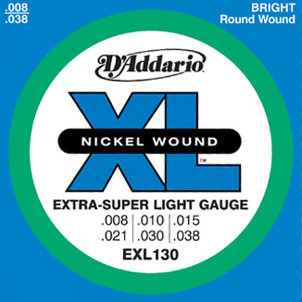 D'Addario - XL Nickel Round Wound - EXL130 Extra Super Light 8-38