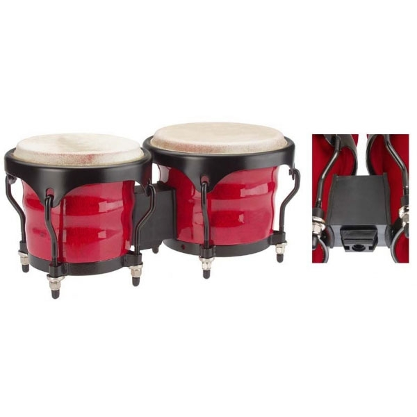 "Stagg - BWM-R Bongo 7.5"" - 6.5"" red"