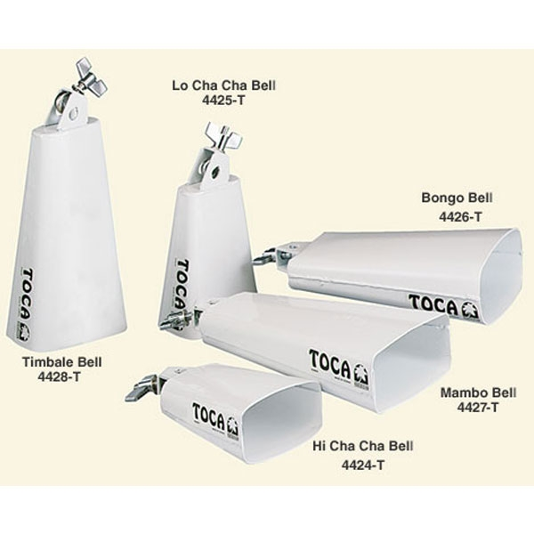 Toca - 4425T Contemporary Series Cha Cha Bell, Low, White