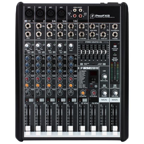 Mackie - [PROFX8] Mixer 8 canali con effetti e USB