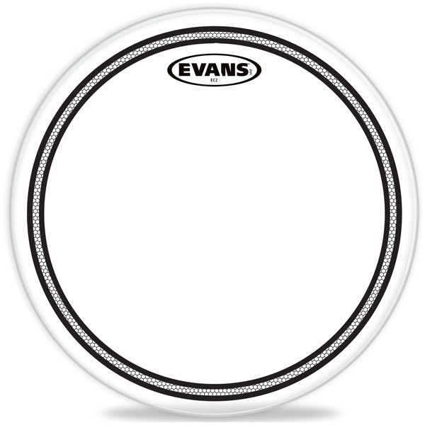 "Evans - EC2S Clear - TT13EC2S 13"" EC2 Clear Snare/Tom/Timbale"