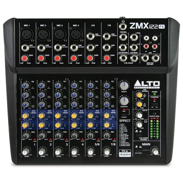 Alto - Zephyr - [ZMX122FX] Mixer 8 canali con effetti