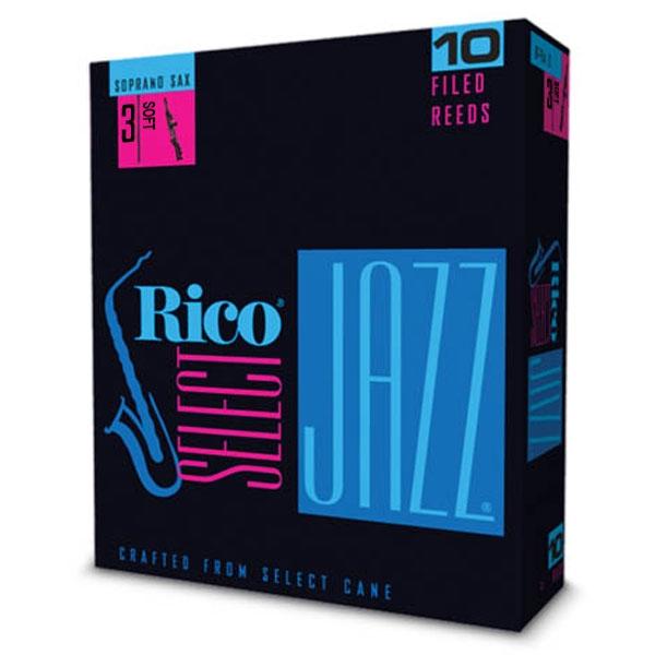 Rico - Select Jazz - RSF10SSX3S Filed Sax Soprano 3s - 10un