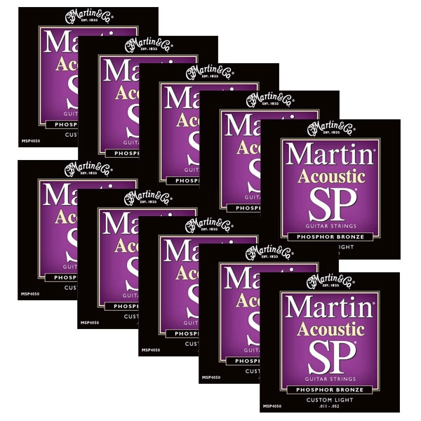 Martin - SP - MSP4050 - SP 92/8 Phosphor Bronze Chitarra Acustica .011-.052 (12xSet)