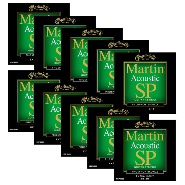 Martin - SP - MSP4000 - SP 92/8 Phosphor Bronze Chitarra Acustica .010-.047 (12xSet)