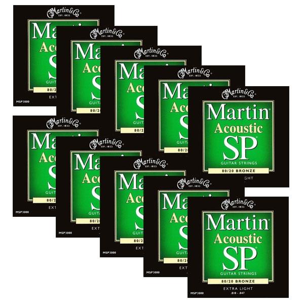Martin - SP - MSP3000 - SP 80/20 Bronze Chitarra Acustica .010-.047 (12xSet)