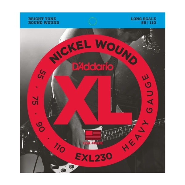 D'Addario - XL Nickel Round Wound - EXL230 muta basso long scale Heavy .055-.110
