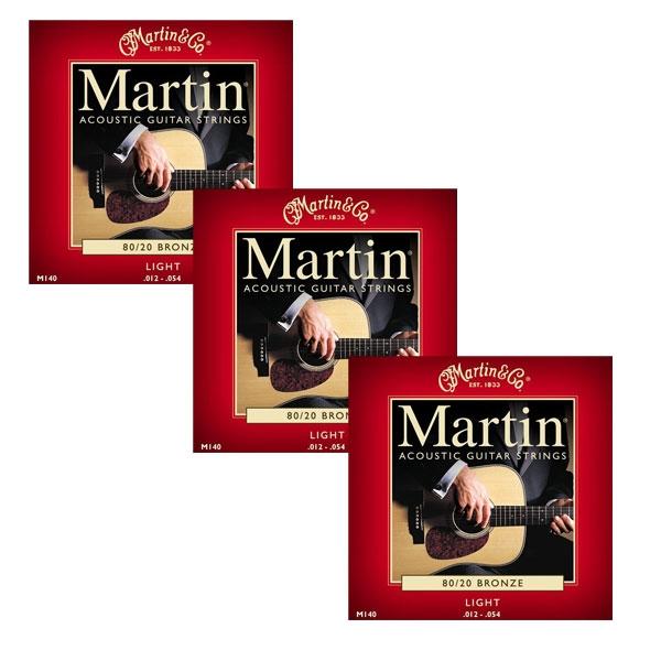 Martin - M140 - 80/20 Bronze Chitarra Acustica .012-.054 (3xSet)