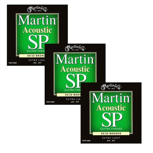 Martin - SP - MSP3000 - SP 80/20 Bronze Chitarra Acustica .010-.047 (3xSet)
