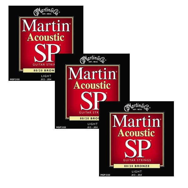 Martin - SP - MSP3100 - SP 80/20 Bronze Chitarra Acustica .012-.054 (3xSet)