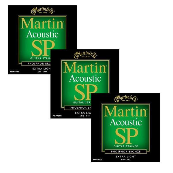Martin - SP - MSP4000 - SP 92/8 Phosphor Bronze Chitarra Acustica .010-.047 (3xSet)