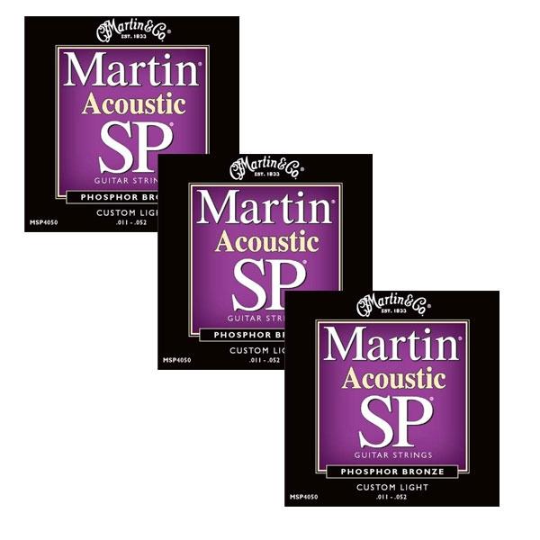 Martin - SP - MSP4050 - SP 92/8 Phosphor Bronze Chitarra Acustica .011-.052 (3xSet)