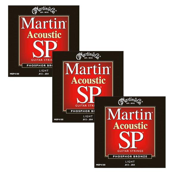 Martin - SP - MSP4100 - SP 92/8 Phosphor Bronze Chitarra Acustica .012-.054 (3xSet)