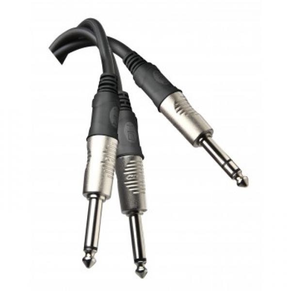 Proel - [DHT540] Cavo Insert Jack Stereo 6,3+2Xjm 6,3 Rn 1,8 m