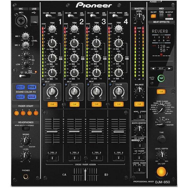 Pioneer - [DJM-850-K] Mixer professionale 4 canali per DJ con effetti