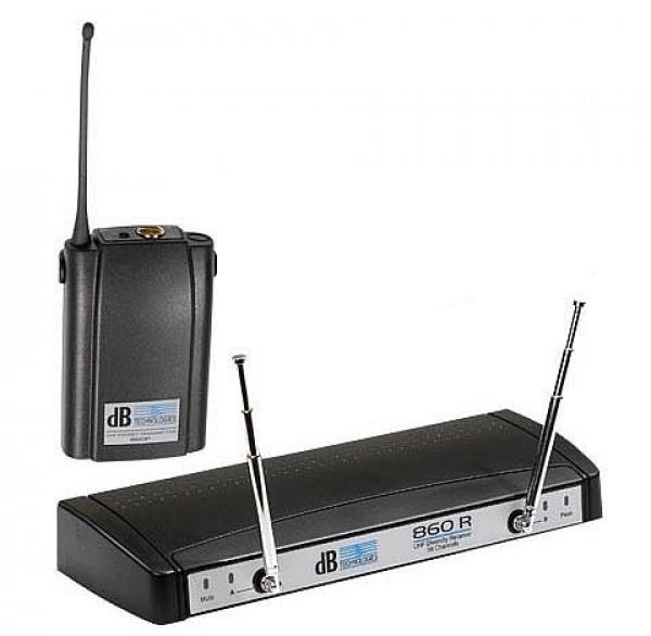 dB Technologies - [PU 860P] Sistema Uhf Wireless Banda  LW1
