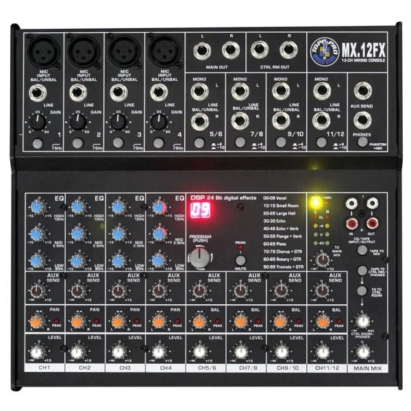 Topp Pro - MX - [MX12FX] Mixer 12 canali con effetti