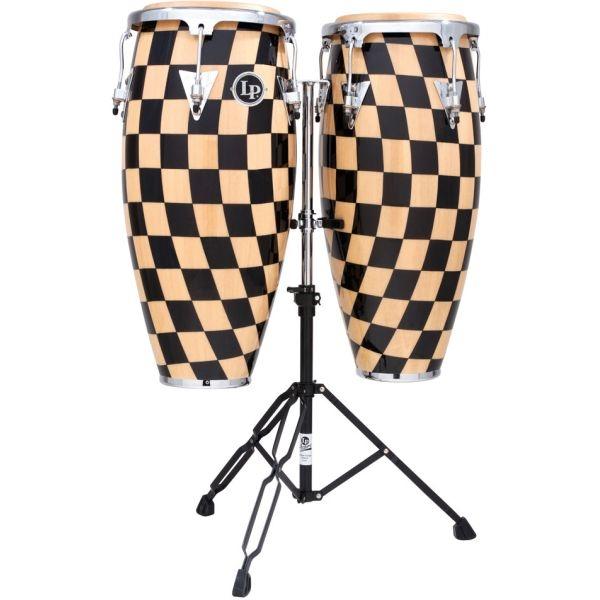 """Lp Latin Percussion - [LPA646 CHKC] Set Congas 10"""", 11"""" con supporto cromato"""