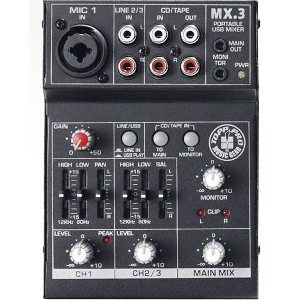 Topp Pro - MX - [MX3] Mixer 3 canali