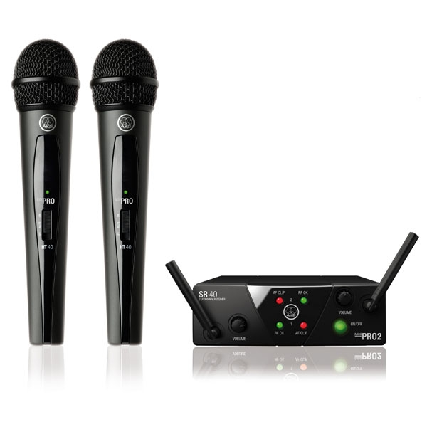 Akg - [WMS 40 PRO MINI] Vocal 2 set ISM2/3 (864.375 MHz/864.850 MHz)