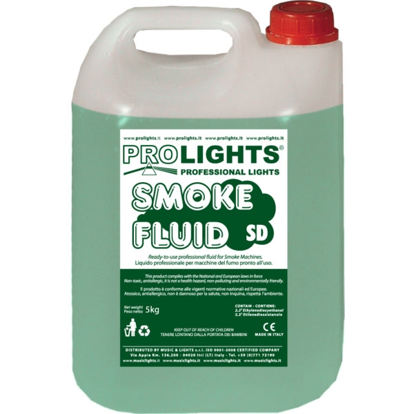Prolights - [SMOKEFLUIDSD] Liquido per macchina effetto fumo 5 lt.