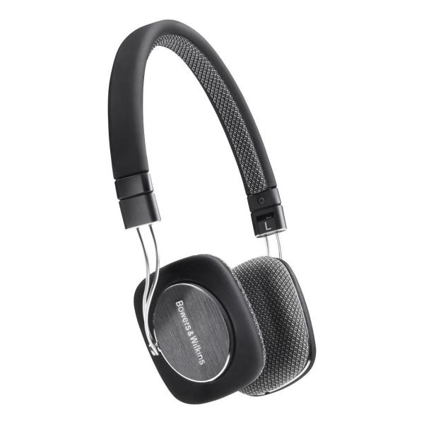 Bowers & Wilkins - P3 - Cuffia stereo serie New Media - Nero/Grigio