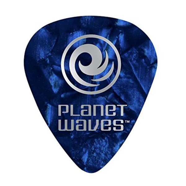 Planet Waves - [JD1BUP4] PLETTRO CLASSIC BLUE PEARL CELLULOID MEDIUM