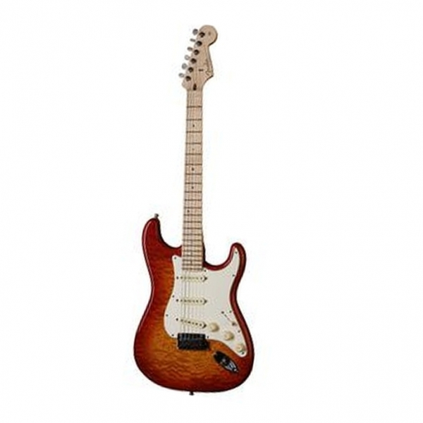 Fender - Custom Shop DeLuxe - [1509952874] 2012 Stratocaster Faded Cherry Burst Maple