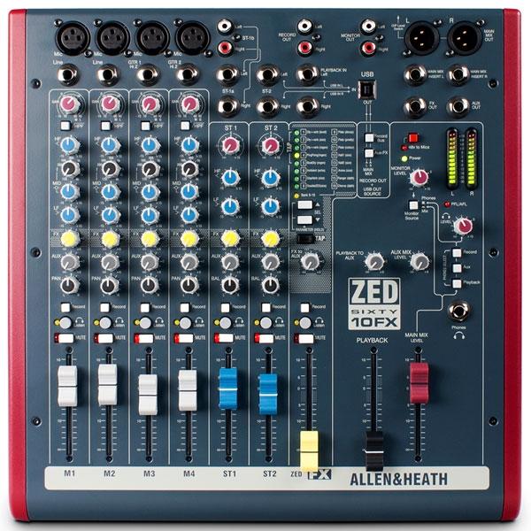 Allen & Heath - [ZED60-10FX] Mixer analogico 10 canali con effetti