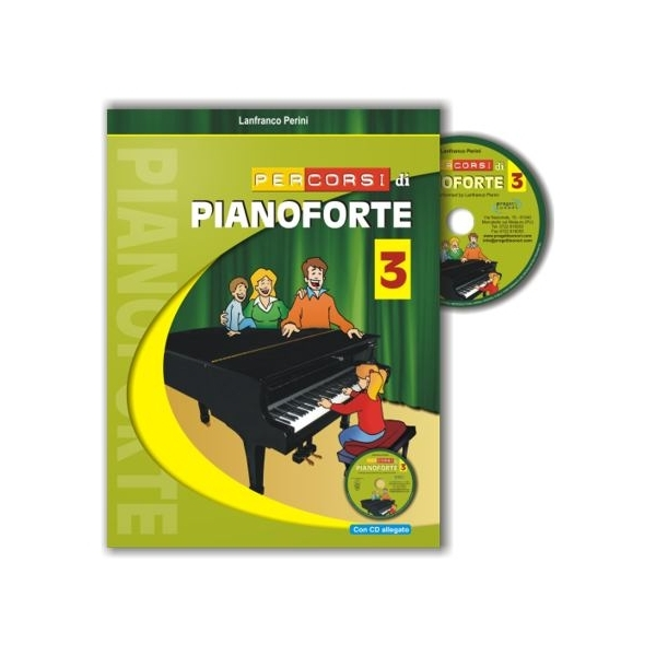 Progetti Sonori - Perini, Lanfranco - Percorsi di Pianoforte 3, con CD (9788888003627)